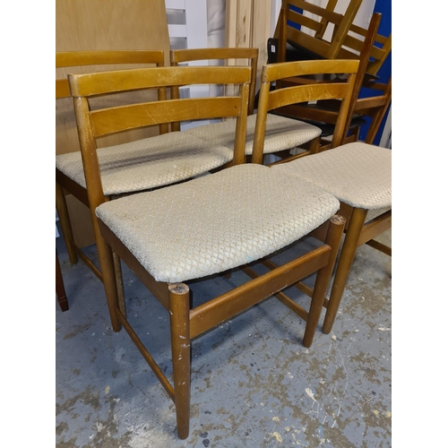 26 - Set of 4 Mid Century Dining Chairs...