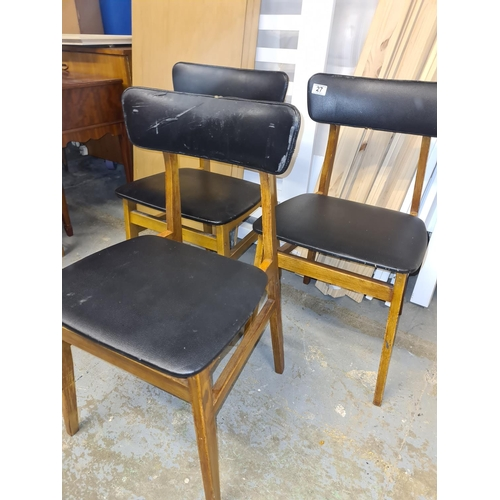 27 - Set of 3 Mid Century Dining Chairds...