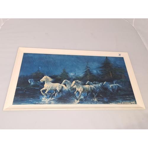 30 - Mid Century Print HORSES OF THE NIGHT - PALMERO...