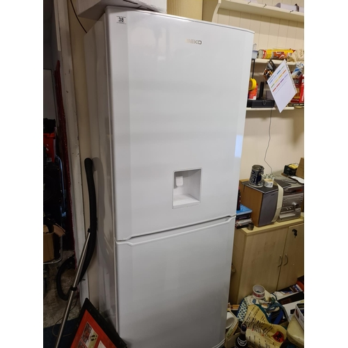 38 - Large Beko Fridge Freezer with Water Dispenser  70cm Wide 190cm Tall 60cm Deep...