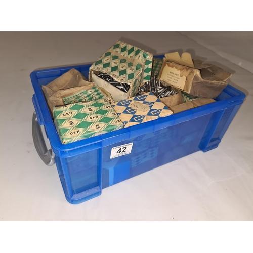 42 - Blue Box of Vintage Boxed Screws...
