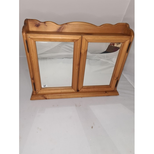 47 - Solid Pine Wall Cabinet 70cm x 50cm...