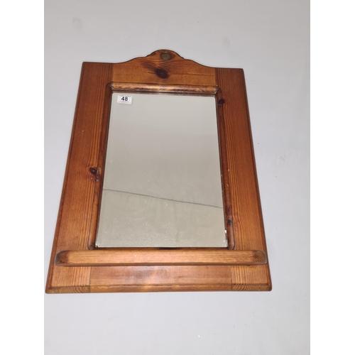 48 - Penny Pine Mirror with Shelf 50cm x 60cm...