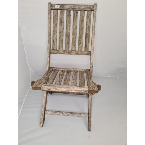 5 - A Folding Teak Garden Chair...