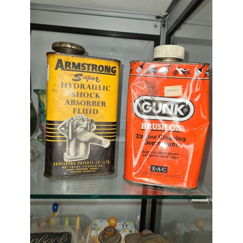 58 - 2 Old Motoring Related Cans & Contents...