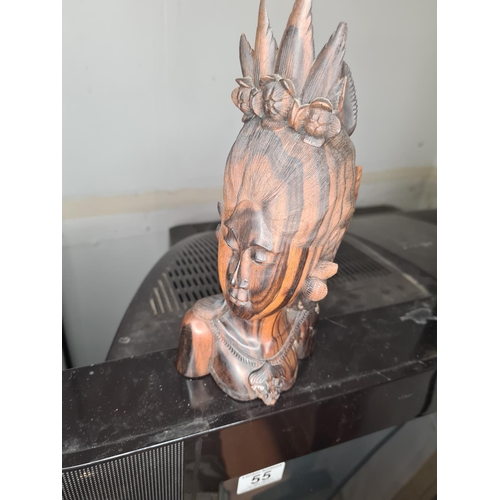 8 - Carved Wooden Bust (Slightly A/F)...