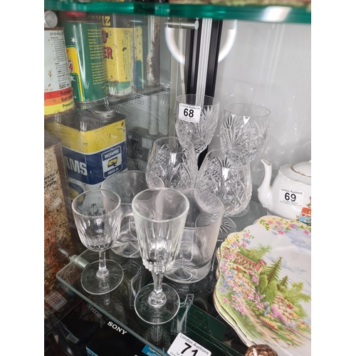 51 - 8 Pieces of Good Glass & Crystal...