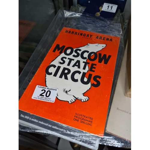20 - 1950s Moscow State Circus Programme...
