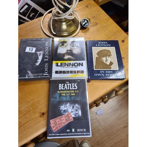 13 - John Lennon Book, 1 John Lennon DVD and a Beatles DVD...