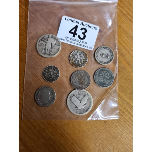 43 - Bag of Old Silver Coins...