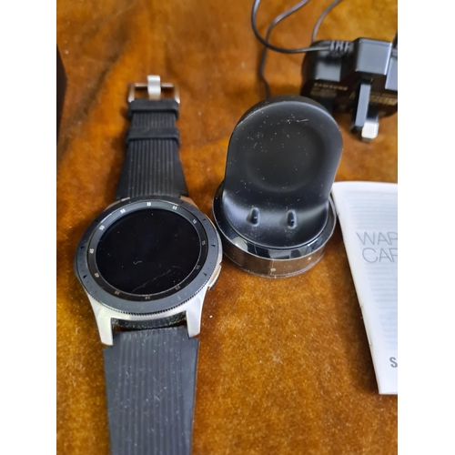 11a - Samsung  Galaxy 4g Smart Watch Model Number SM-R805F. Boxed with Chargers, Instructions etc. Only Us...