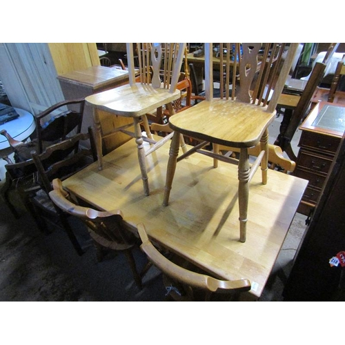 1015 - DINING TABLE AND SIX CHAIRS...