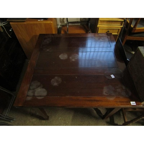 1044 - EDWARDIAN MAHOGANY DRAWER LEAF TABLE