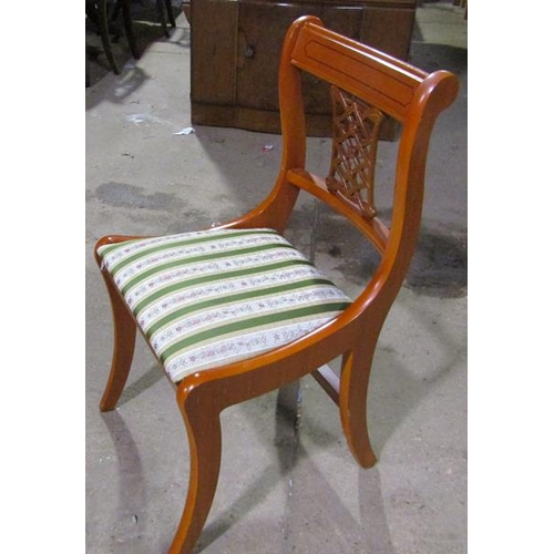 1052 - SIX REPRODUCTION REGENCY STYLE DINING CHAIRS