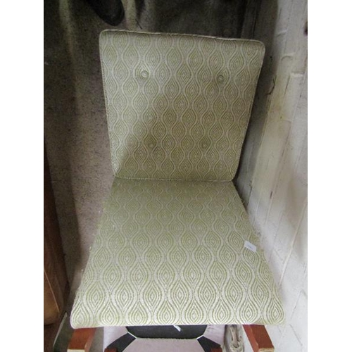 13 - TWELVE UPHOLSTERED DINING CHAIRS
