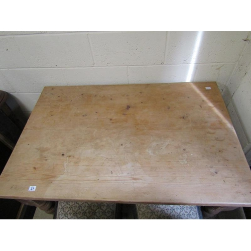 21 - MODERN PINE TABLE