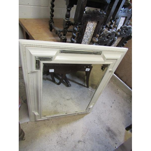 23 - VICTORIAN PAINTED MIRROR