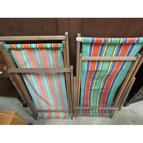 4 - TWO VINTAGE DECK CHAIRS