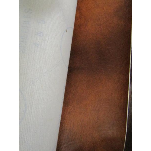 8 - ROLL OF LEATHER LOOK FABRIC AND STUFFING