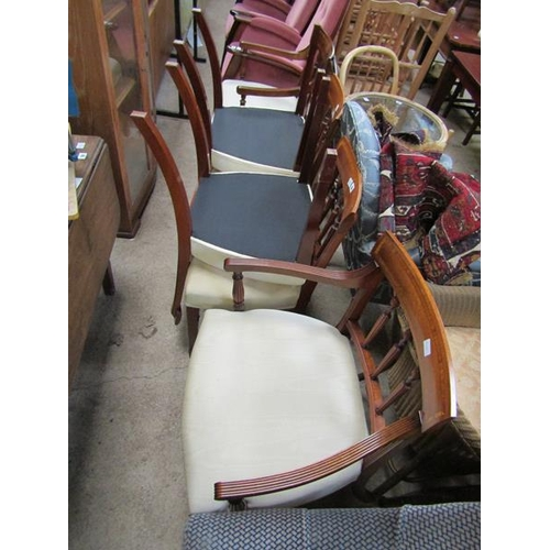 59 - SIX REPRODUCTION GEORGIAN STYLE DINING CHAIRS