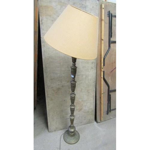 1 - ORIENTAL BRASS STANDARD LAMP