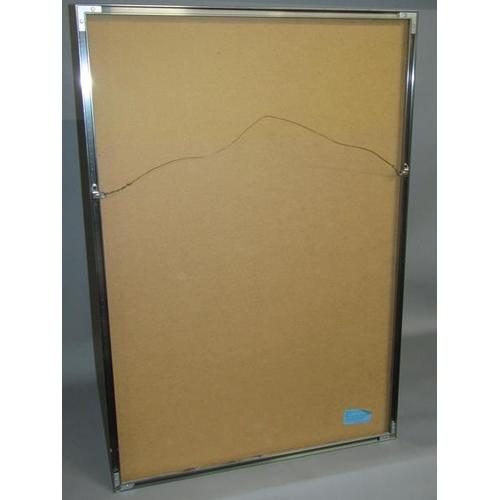 532 - MIRO COLOURED PRINT OF CONTEMPORARY DESGIN F/G 88 x 60 cms