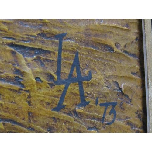 526 - MONO LA '73, WEST STREET WARE, c.1900.  OIL ON BOARD FRAMED 53 x 49 cms