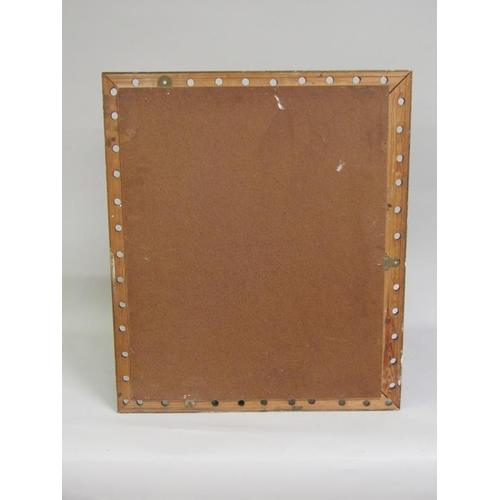 1009 - MOULDED GILT FRAMED WALL MIRROR, 70 x 59 cms