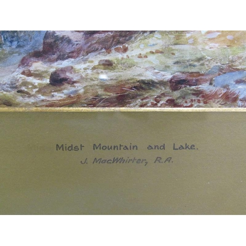 1051 - J MACWHIRTER - TWO F/G LIMITED EDITION PRINTS - JUNE IN THE AUSTRIAN TUROLL & MIDST MOUNTAIN AND LAK...