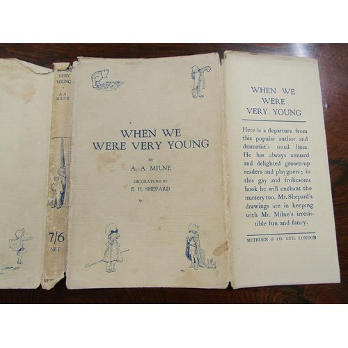 4 - A book - When We Were Very Young by A.A Milne with decorations by E.H Shepard, printed first publish...