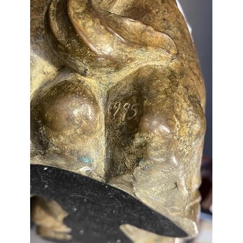 1019 - Rhonda Barbara (Barbara) Tribe (1913-2000) Australia bronze bull number 3/12, signed and numbered, a...