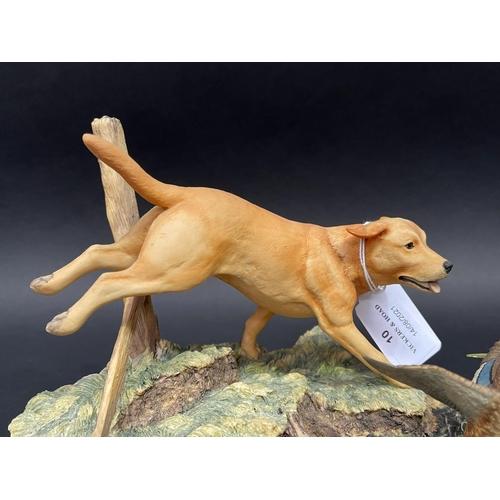 10 - Scottish Border Fine Arts, Ayres 848/1300, dog,  detachable wooden base, approx 16cm x 24cm