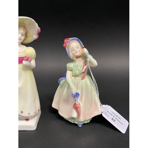 25 - Two Royal Doulton figures Babie HN 1679 and Lori HN2801, approx 15cm and smaller (2)