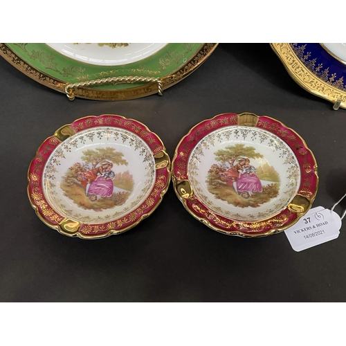 37 - Assortment of Limoges plates, approx 24cm and smaller (6)