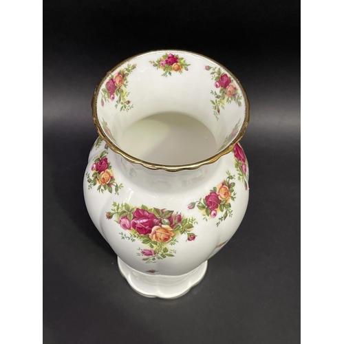 39 - Royal Albert china baluster shaped  vase, approx 31cm H
