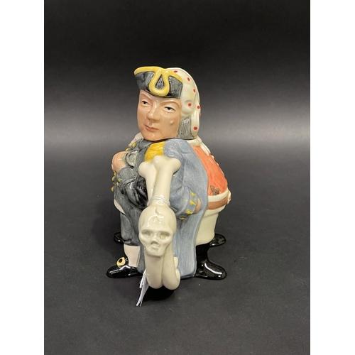 45 - Royal Doulton Pirate & Captain teapot, D7182, limited Edition 73/1500, approx 17cm Dia
