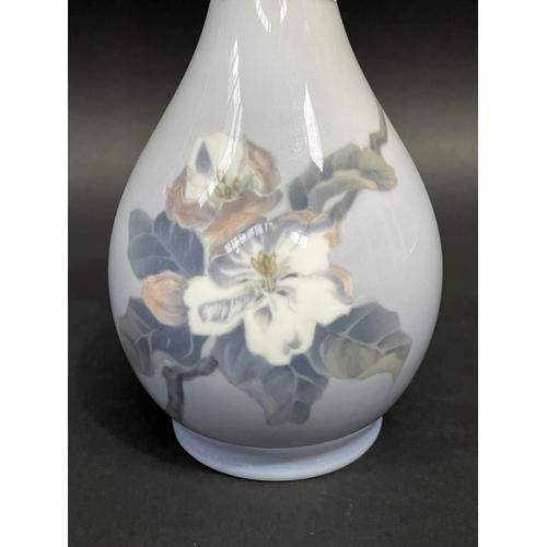 46 - Royal Copenhagen porcelain flared rim bottle vase, no 5351, approx 21.5cm