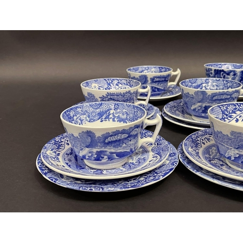 50 - Selection of Spode blue and white tea ware, six cups, saucers, plates and extras, sugar bowl, jug et...