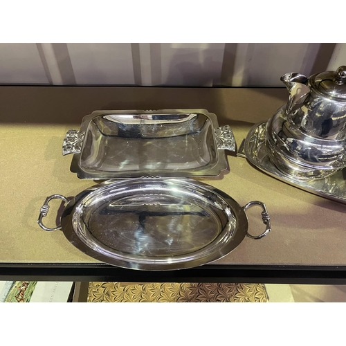 58 - Assortment of silver plate