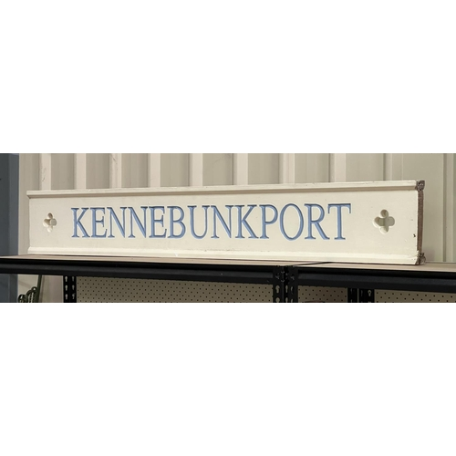 6 - Kennebunkport painted sign, Kennebunkport, Maine is where George W Bush has his family compound, app...