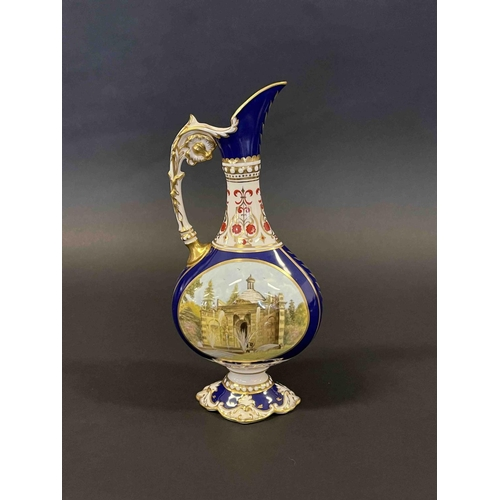 1001 - Royal Crown Derby Chatsworth House urn 16/250, approx 26cm H