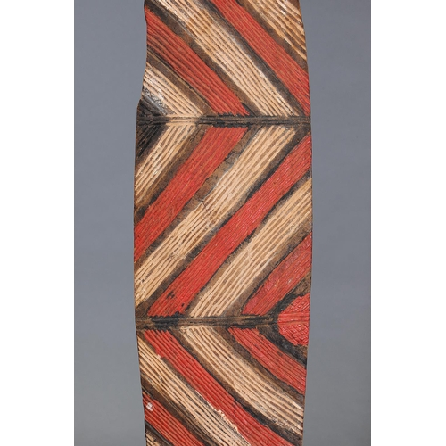 1022 - LARGE WUNDA SHIELD, WESTERN AUSTRALIA, Carved and engraved hardwood and natural pigment (no custom s...