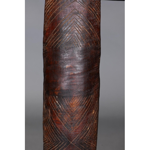1027 - NARROW SHIELD, VICTORIA, Carved and engraved hardwood and natural pigment (no custom stand) Carved i...
