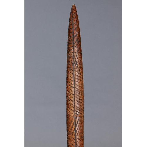 1039 - IMPORTANT INCISED CLUB, LAKE CONDAH ABORIGINAL MISSION, VICTORIA, Carved and engraved hardwood (with...