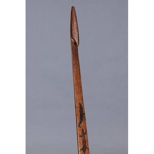 1040 - IMPORTANT SPEAR THROWER (WOOMERA), LAKE CONDAH ABORIGINAL MISSION, VICTORIA, Carved and engraved har...