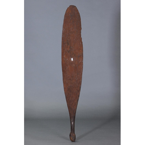 1051 - RARE CEREMONIAL CLUB, WESTERN AUSTRALIA, Carved and engraved hardwood and natural pigment (with cust...