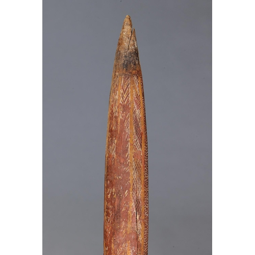 1056 - CEREMONIAL OBJECT, ARNHEM LAND, NORTHERN TERRITORY, Carved hardwood and natural pigments (with custo...