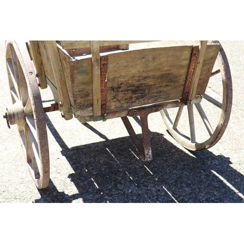 15 - Antique 19th century French rustic produce market cart from the South of France, total approx 95cm H...