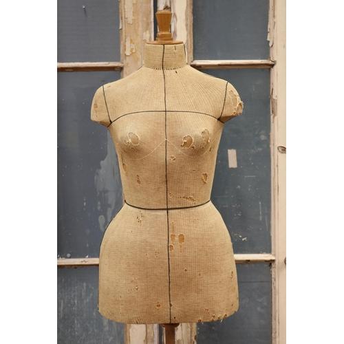 27 - Vintage French dress makers mannequin, marked Plastikos Paris, approx 152cm