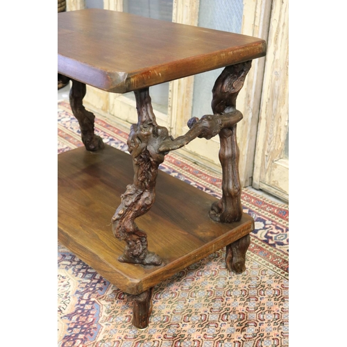 31 - Vintage French solid occasional table, constructed from old grape roots as supports & legs, approx 6...